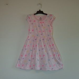 girls pink/butterfly dress H&M *buy3itemsThis$3